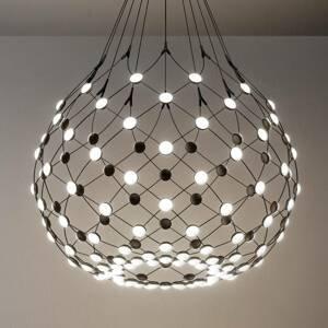 Luceplan Luceplan Mesh LED závěsné světlo Ø 80cm 2m závěs