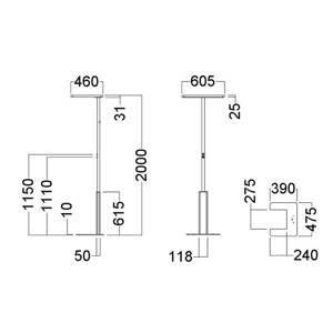 GLamOX LED stojací lampa LINEA-F, stmívač, CCT, šedá