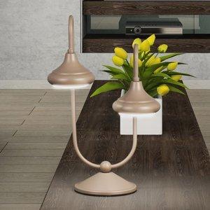 Lam Stolní lampa 1680/2L dva zdroje, havana béžová