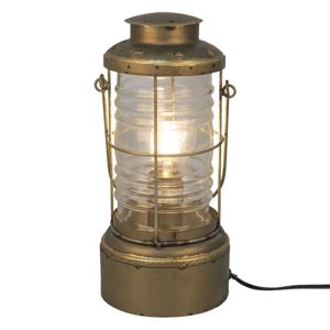 Clayre & Eef Stolní lampa 559, lucerna, antická zlatá