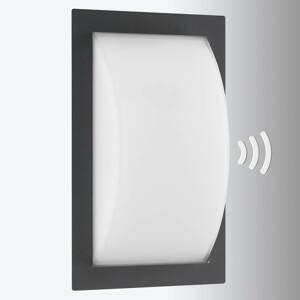 LCD Venkovní nástěnné světlo Ivett E27 grafit s BWM
