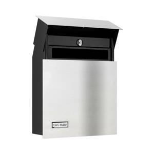 LCD Nerezová poštovní schránka 3011 s jmenovkou