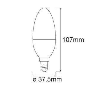 LEDVANCE SMART+ LEDVANCE SMART+ WiFi E14 5W svíčka RGBW 3ks