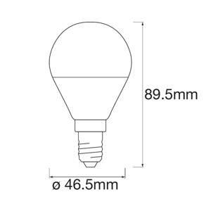 LEDVANCE SMART+ LEDVANCE SMART+ WiFi E14 5W kapka RGBW 3ks