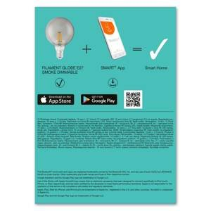 LEDVANCE SMART+ LEDVANCE SMART+ Bluetooth E27 G125 Smoke 6W 827
