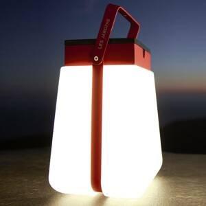 LES JARDINS LED solární lucerna Bump 300 přenosná, červená