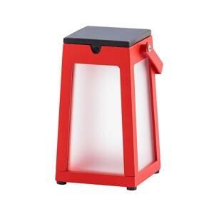 LES JARDINS LED solární lucerna Tinka přenosná, červená