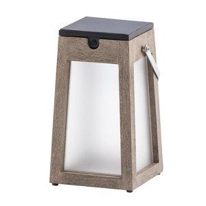 LES JARDINS LED solární lucerna Tecka přenosná, Duratek 25 cm