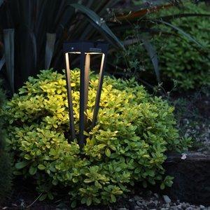 LES JARDINS LED solární pochodeň Tinka, výška 52 cm, muškát