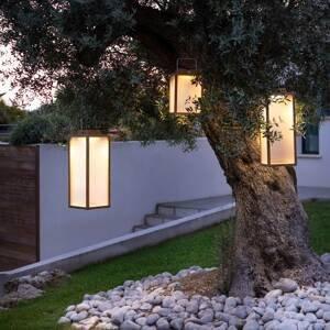 LES JARDINS LED solární lucerna Tradition z teaku, výška 65 cm