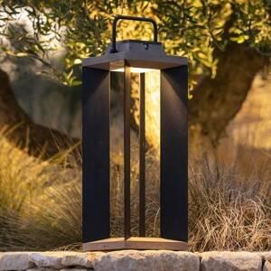 LES JARDINS Solární lucerna Teckalu, duratek/Al černá, 65,5cm