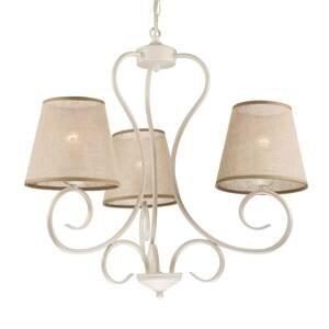 LamKUR Lustr Midgrad, tři žárovky, bílý