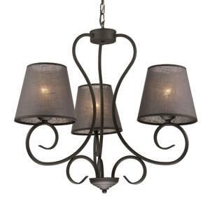 LamKUR Lustr Midgrad, tři žárovky, antracit