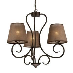 LamKUR Lustr Midgrad, tři žárovky, hnědý