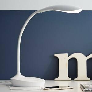 Markslöjd LED stolní lampa Swan, bílá