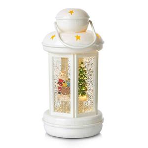 Markslöjd Dekorativní lucerna Cosy LED se třpytkami, bílá
