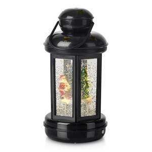 Markslöjd Dekorativní lucerna Cosy LED se třpytkami, černá