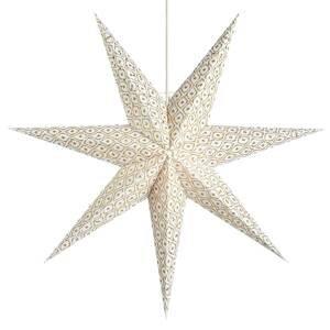 Markslöjd Dekorační hvězda Baroque k zavěšení, Ø 45 cm, bílá