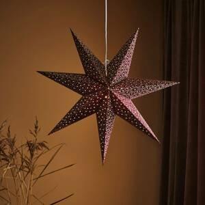 Markslöjd Dekorační hvězda Baroque k zavěšení, Ø 75cm, bordó