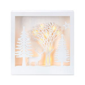 Markslöjd LED osvětlený 3D obraz Folkabo ze dřeva