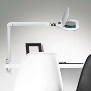MAUL LED stolní lupa MAULcrystal se svorkou stmívatelná