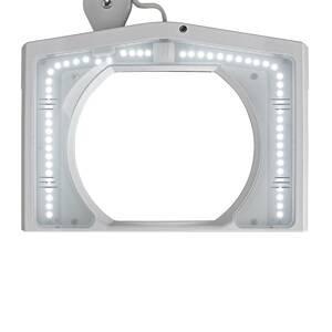 MAUL LED stolní lupa MAULvitrum se svorkou, bílá