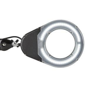 MAUL LED stolní lupa MAULviso se svorkou, černá