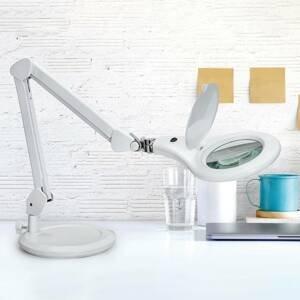 MAUL LED stolní lupa MAULmakro se stojanem, bílá