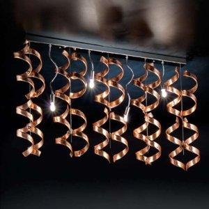 Mettallux Spirálové stropní světlo Copper