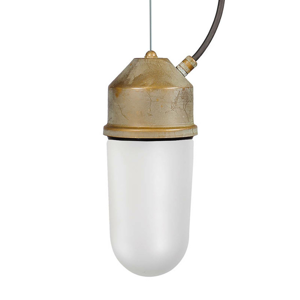 Moretti Závěsné světlo 1951N mosaz antická, sklo opál