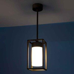 Moretti Závěsné světlo Cubic³ 3368 mosaz antická/opál
