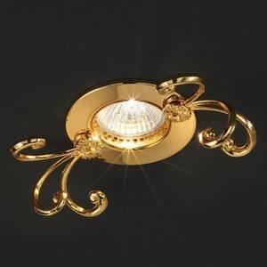 Masiero Holly - pozlacené podhledové světlo z mosazi