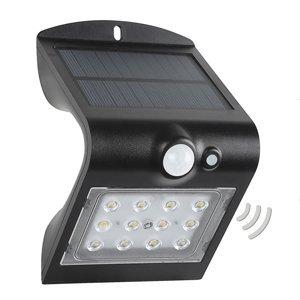 MEGATRON LED solární venkovní nástěnné světlo Wave S senzor