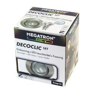 MEGATRON LED spot Decoclic Set GU10 4,5 W, železo