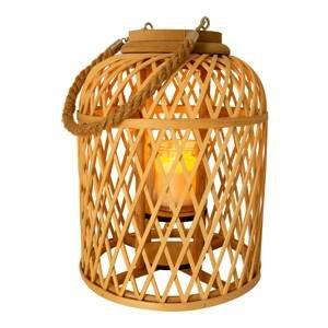 Näve LED solární lucerna Korb, bambus, 29 cm, přírodní