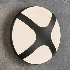 Nordlux Venkovní nástěnné světlo Cross černá, Ø 26 cm