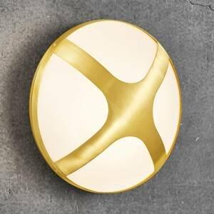 Nordlux Venkovní nástěnné světlo Cross mosaz, Ø 26 cm