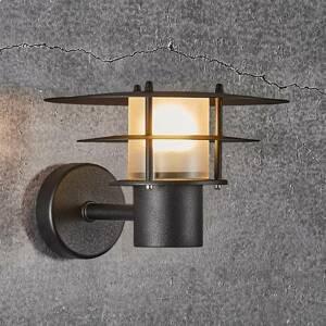 Nordlux Venkovní nástěnné světlo Bastia černá Ø 24 cm