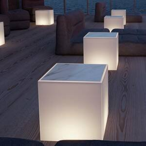 NEWGARDEN Newgarden Bora světelný stůl s mramorovou deskou