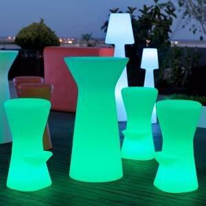 NEWGARDEN Newgarden Corfu LED barová židle solární+baterie