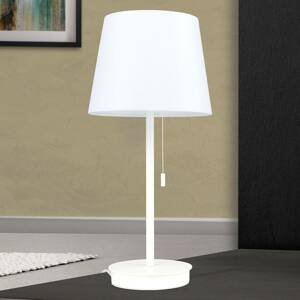 Orion Stolní lampa Ludwig s portem USB bílá