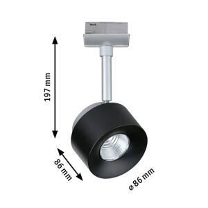Paulmann Paulmann URail LED spot Pane chrom matný, černá