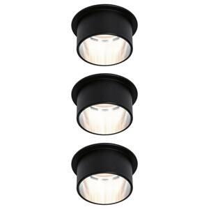 Paulmann Paulmann Gil LED podhledové černá matná/železo 3ks