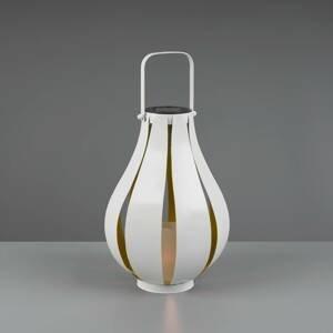 Reality Leuchten LED solární stolní lampa Montero, baterie, bílá