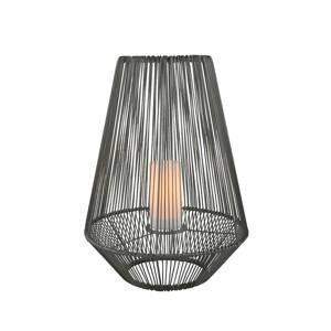 Reality Leuchten LED solární stolní lampa Mineros, šedá, výška 51cm