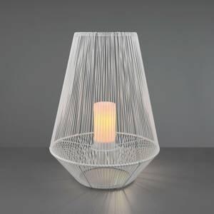Reality Leuchten LED solární stolní lampa Mineros, bílá, výška 51cm