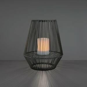 Reality Leuchten LED solární stolní lampa Mineros šedá výška 30,5cm
