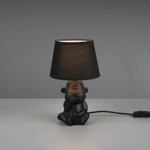 Reality Leuchten Stolní lampa Chita z keramiky, černá