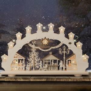 Saico Světelný oblouk Vánoční trh 3D, 2 motivy