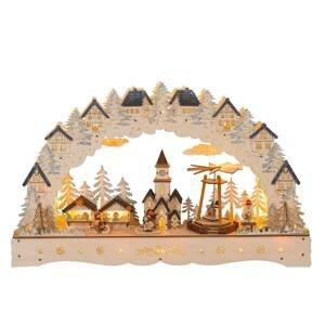 Saico LED světelný řetěz Vánoční trh, pyramida otočná